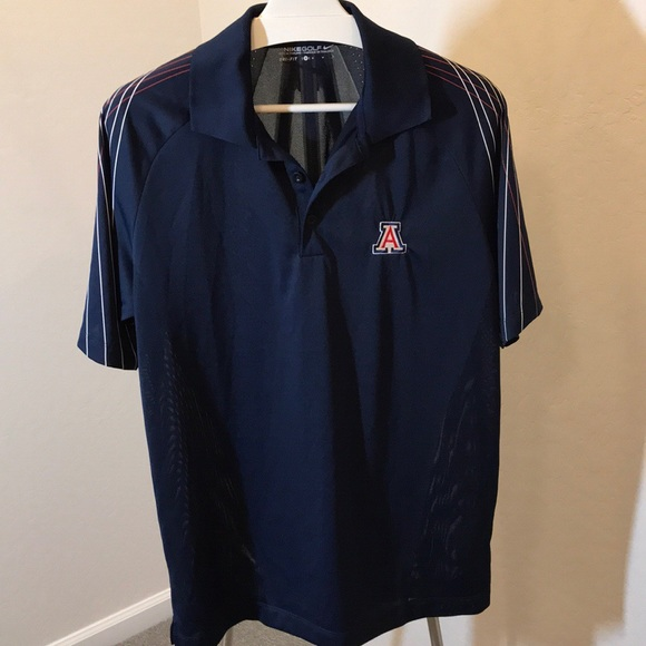 bcdfe63b Nike Shirts | Golf Dri Fit Navy Uofa 3 Button Polo Shirt | Poshmark
